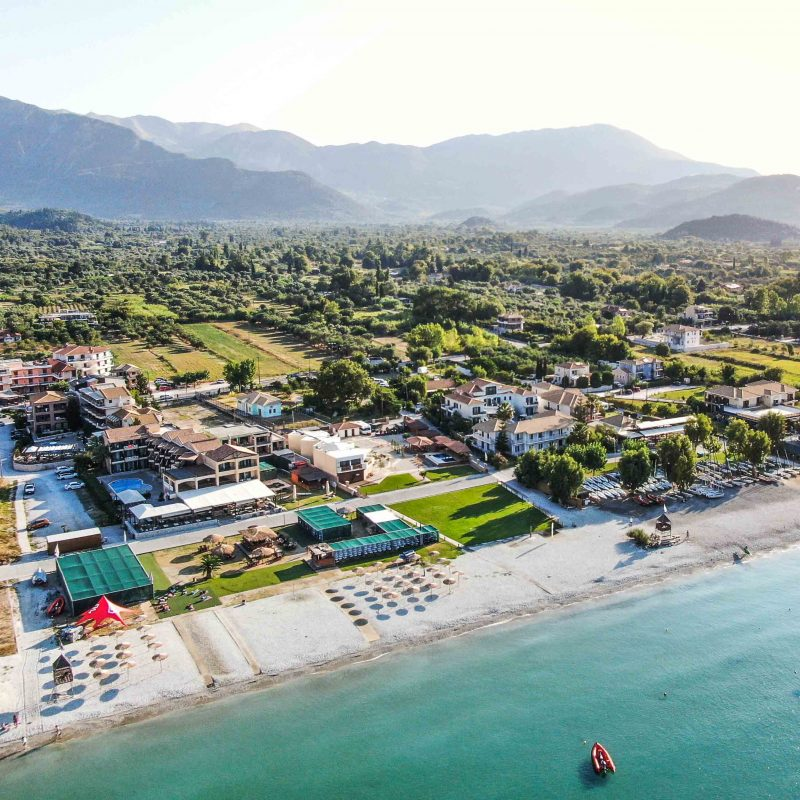 Club Vass centre in prime position on Vassiliki Beach