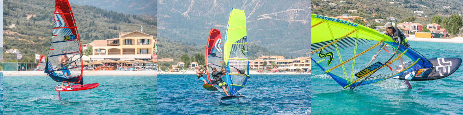 windfoiling at club vass