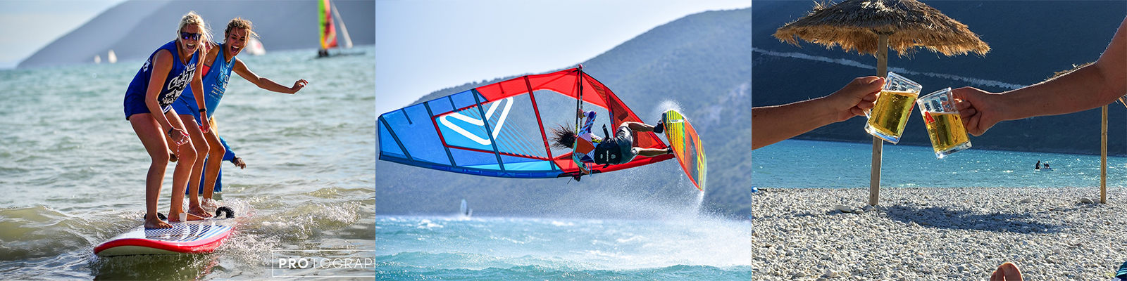Tandem Windsurfing Looping and SUP montage image