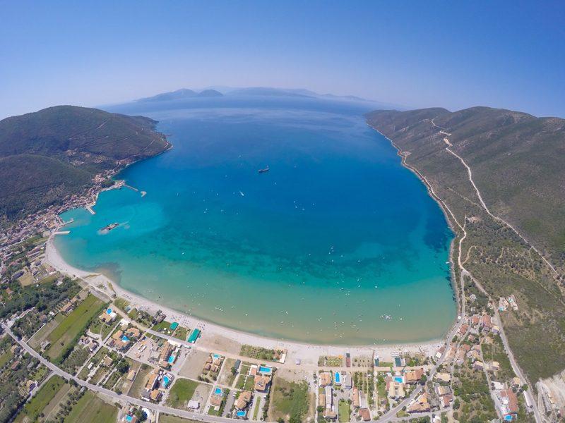 Vassiliki Bay Drone Shot